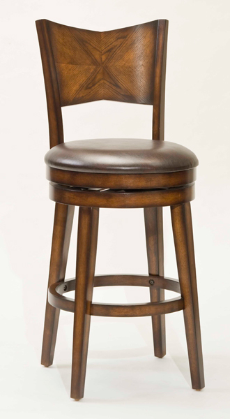Jenkins Swivel Counter Stool Rustic Oak Finish 4477