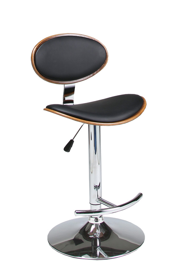 Joffrey Hydraulic Lift Bar Stool Chrome Black amp Walnut  : joffrey hydraulic lift bar stool chrome black walnut 1 from www.decorsouth.com size 600 x 900 jpeg 50kB