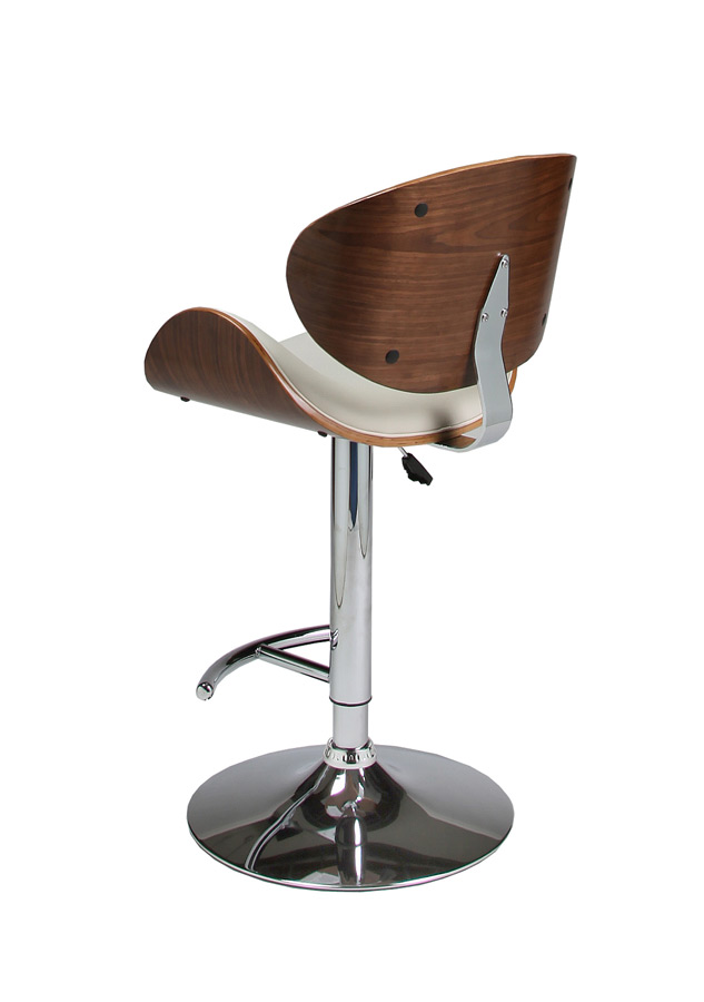 Jordana Hydraulic Lift Bar Stool Chrome Walnut Ivory Finish Jr 219 Ch Wa 978