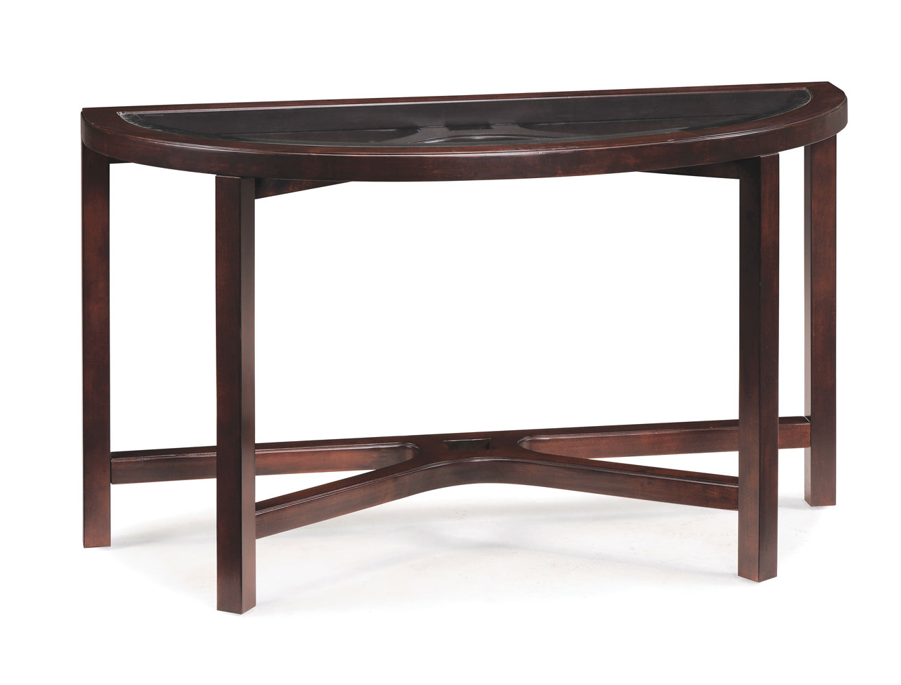 Juniper Demilune Sofa Table (Mink Brown) - [T1020-75] : Decor South
