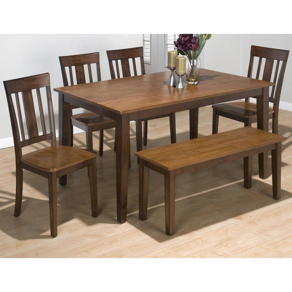 Kura espresso and canyon gold two tone rectangular 7 piece dining set 875 60 6x875 265kd - Espresso kitchen table ...