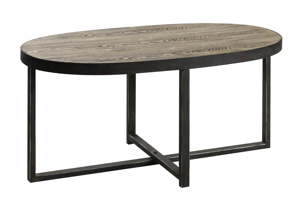 Layton Cocktail Table Distressed Wood Metal 6224 Decor South