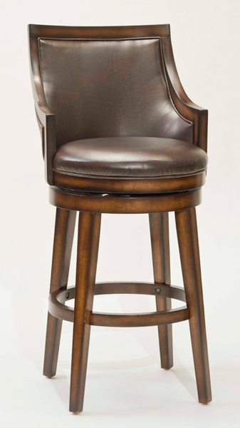 Lyman Square Back Swivel Counter Stool In Rustic Oak And