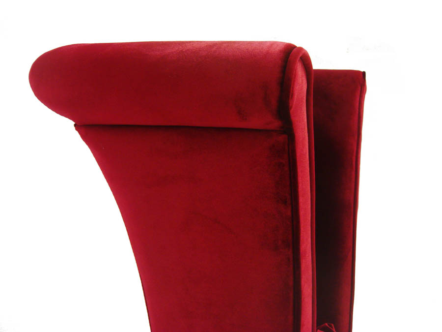 Genial Mad Hatter Dining Chair (Rich Red Velvet)   [LC847SIRE]