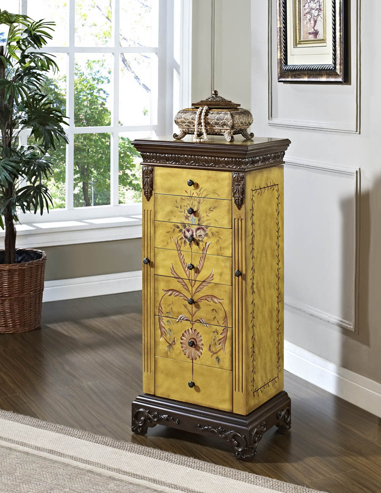 Masterpiece Jewelry Armoire (Antique Parchment Hand ...