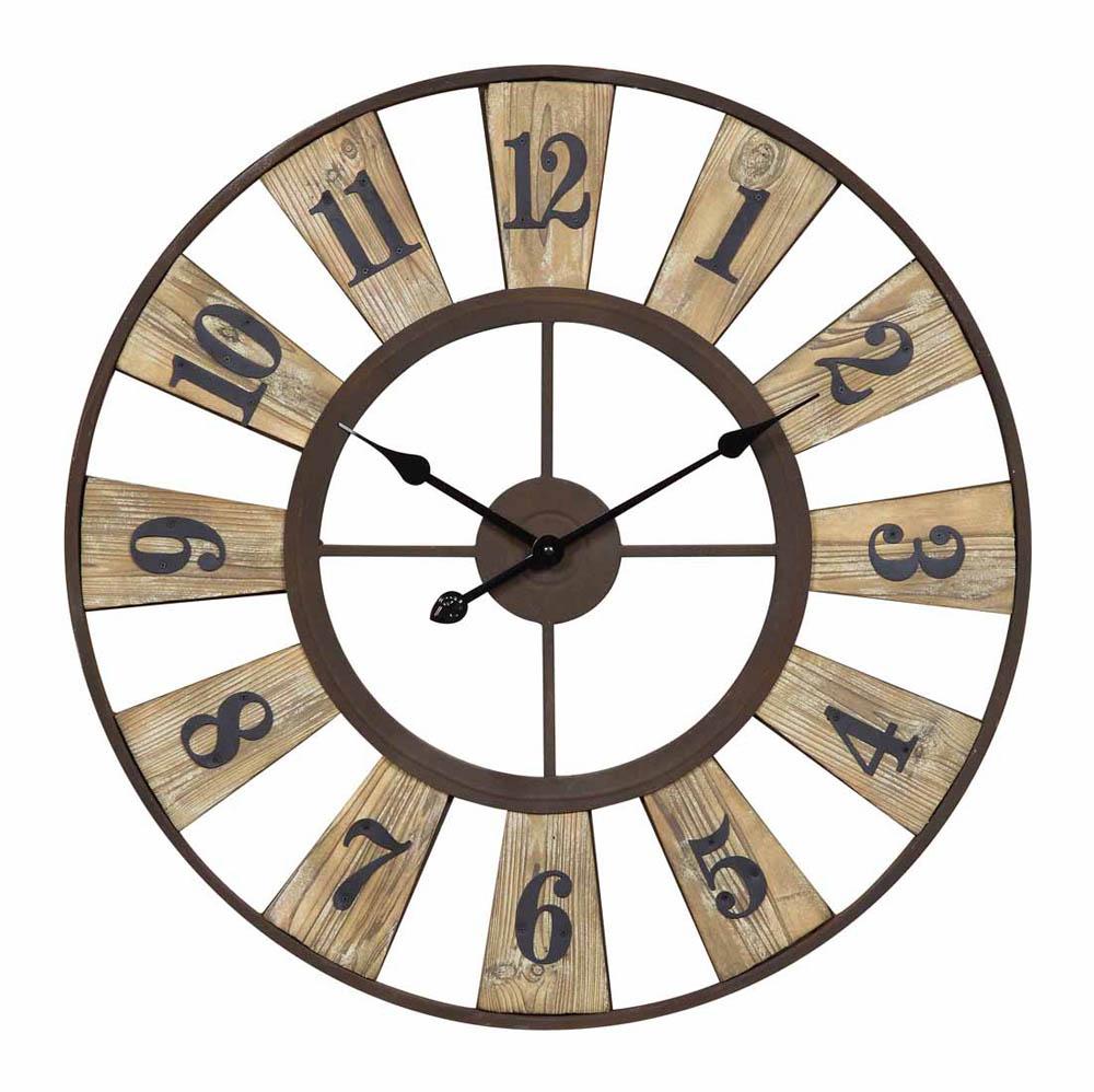Minden Clock Bronze 28 Round 40145 Decor South