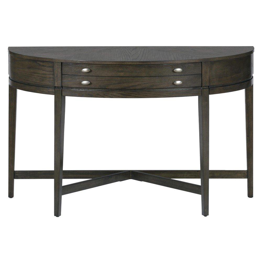 Sofa Console Table : ... - Antique Gray Oak Demilune Sofa Table - [729-4] : Decor South