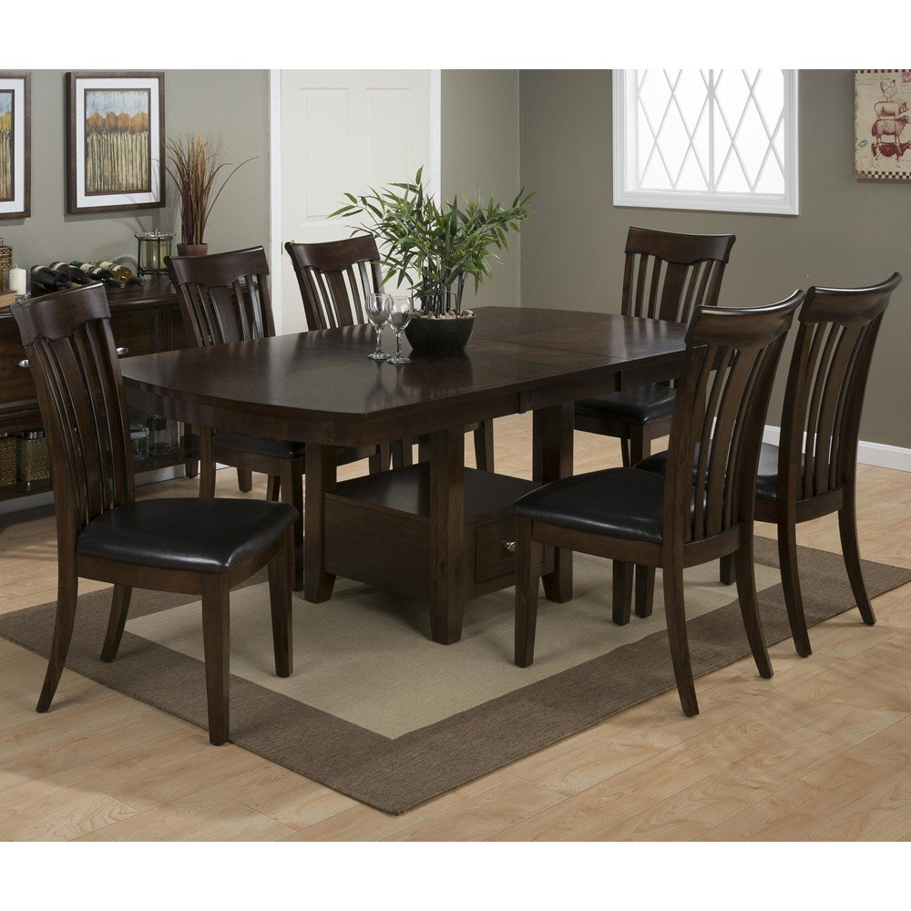 Mirandela birch counter height 7 piece dining set with contoured slat back chairs 836 78b 836 - Birch kitchen table ...