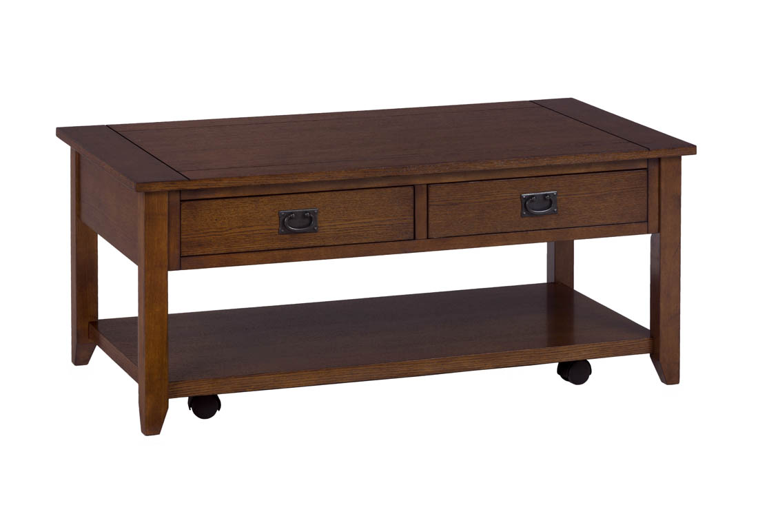 Mission Oak Castered Cocktail Table 1032 1 Decor South