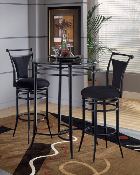 MixNMatch Pub Table Set Black Finish Decor South