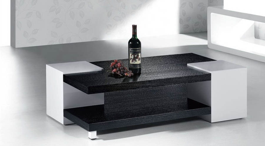 Marvelous White And Black Coffee Table Modern