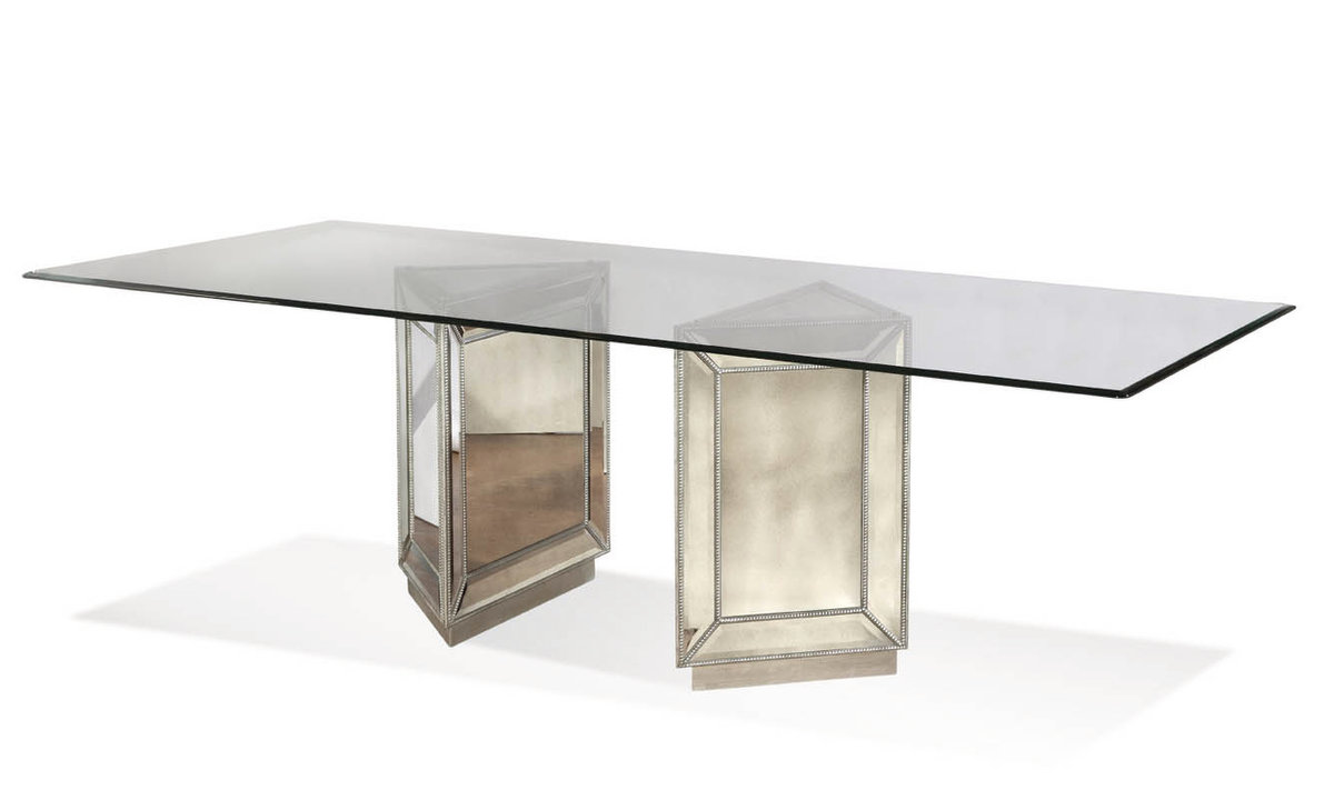 Murano Dining Table Mirror Finish D Decor South - Silver mirrored dining table