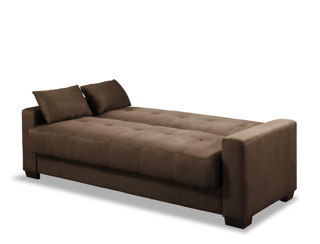 amanda convertible sofa with pillows light brown