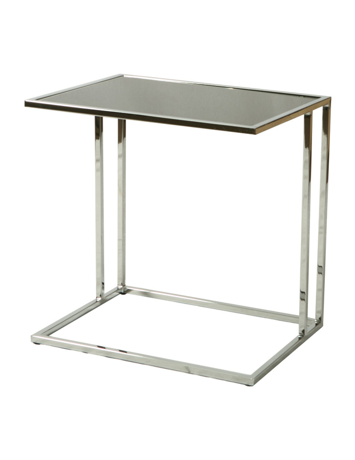 norway end table chrome black glass finish nw 435