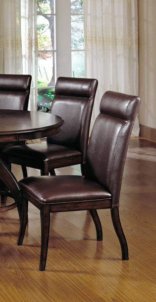 nottingham dining chairs set of 2 dark walnut finish decor south