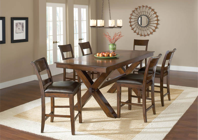 Park Avenue Counter Height Dining Table Dark Cherry