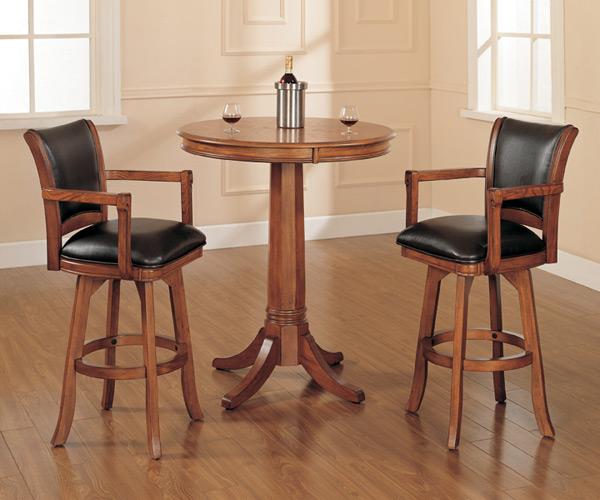 Park View Bar Height Table Set Medium Brown Oak Finish Decor South