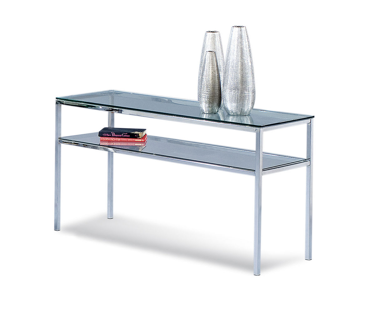 Patinoire Entertainment Console Table (Chrome Finish)   [T1792 590]