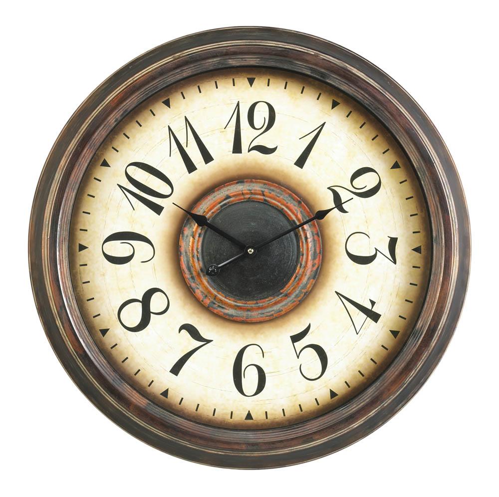 Potter Clock Aged Bronze 24 Round 4808 Decor South