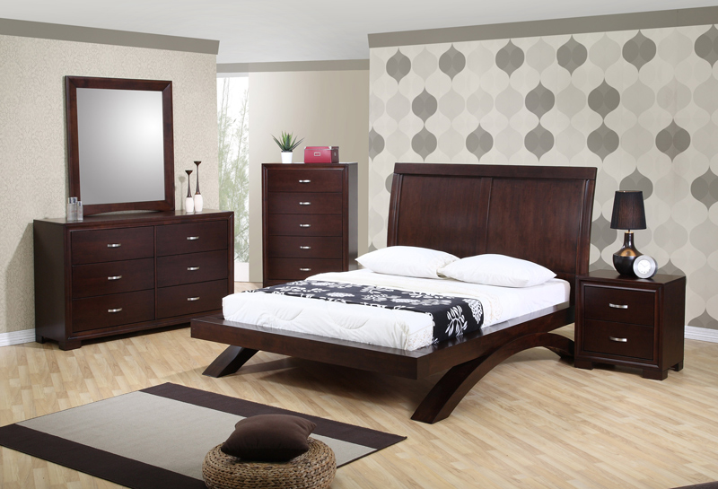 Raven Bedroom Set Dark Cherry Finish Rv100qb Decor