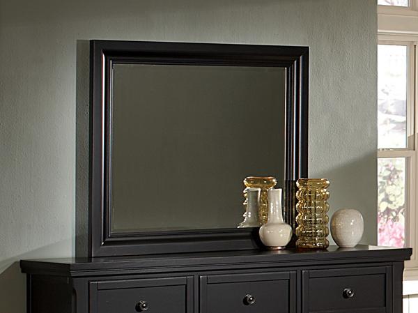 ... Reflections Mansion Bedroom Set (Ebony Finish) ...