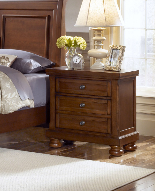Reflections Night Stand Medium Cherry Finish Decor South