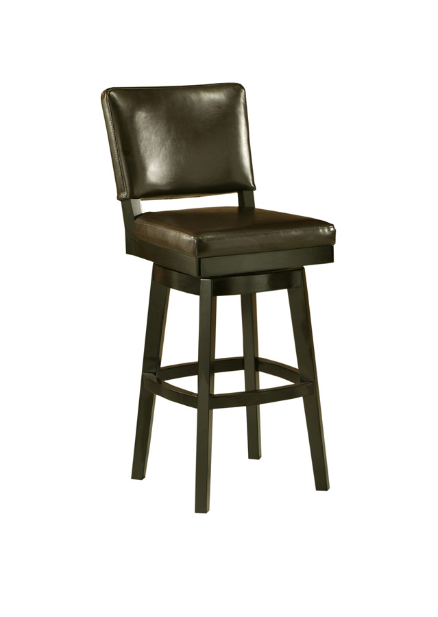 Richfield Swivel Counter Stool Feher Black & Brown Finish
