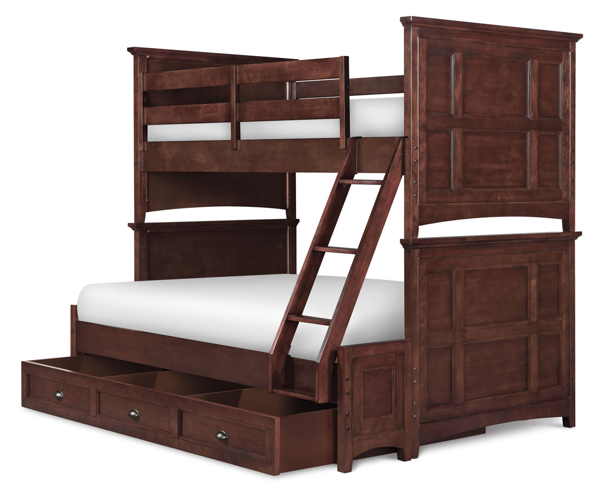 Riley Bunk Bed - Twin Over Full (Cherry) : Decor South
