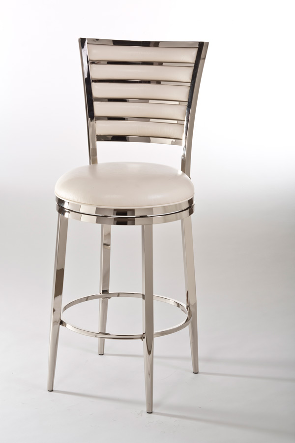 Rouen Swivel Counter Stool Shiny Nickel amp Ivory Finish  : rouen swivel counter stool shiny nickel ivory 1 from www.decorsouth.com size 600 x 900 jpeg 55kB