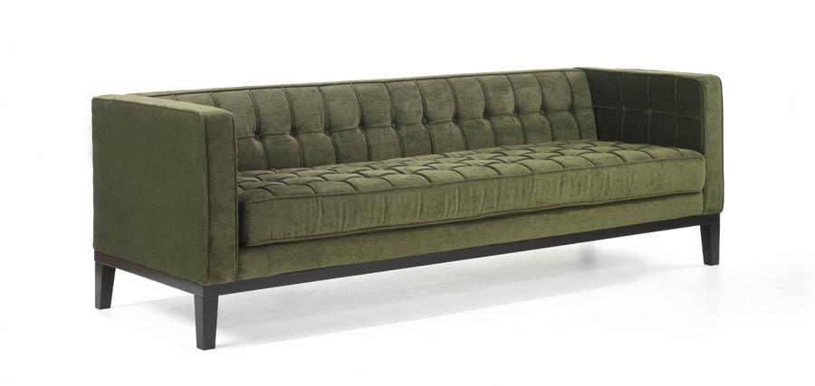 Wonderful Roxbury Tufted Sofa (Green)   [LC10103GR]