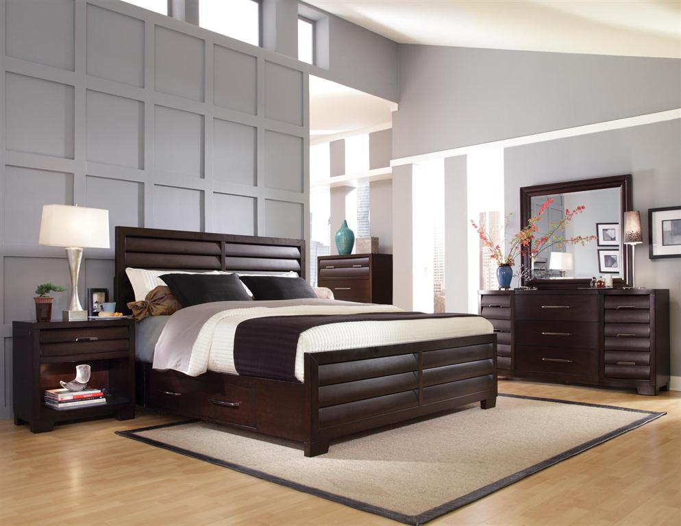 Sable Storage Bedroom Set Sable Dark Brown