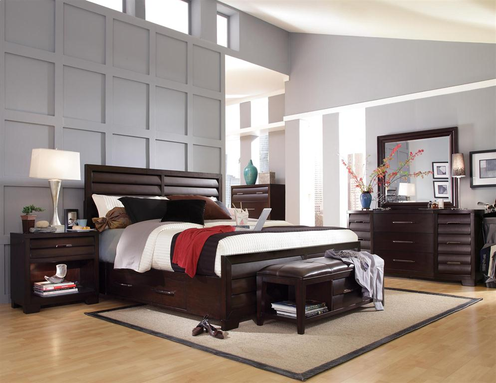 Dark Brown Bedroom Set - Moncler-Factory-Outlets.com