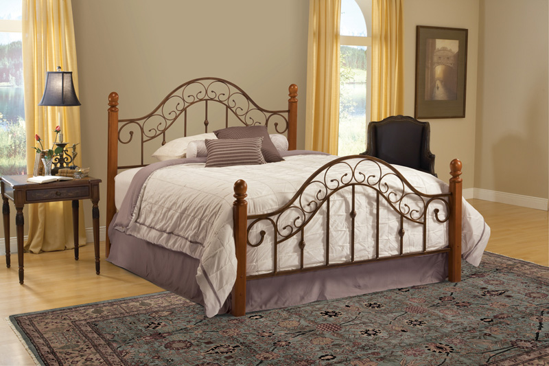 San Marco Bed (Brown Copper Finish) : Decor South