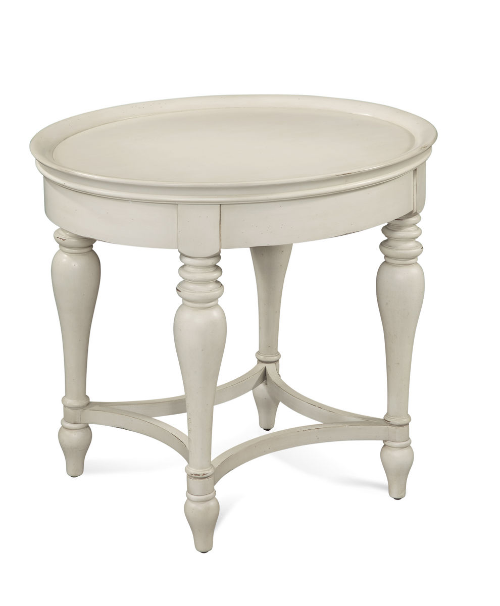Sanibel Oval End Table Off White 2862240EC Decor South