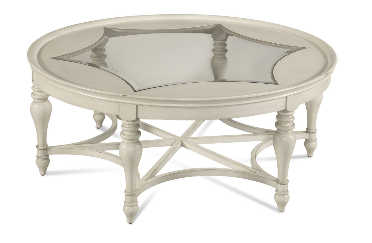 Sanibel round cocktail table off white 2862 120ec for Off white round table