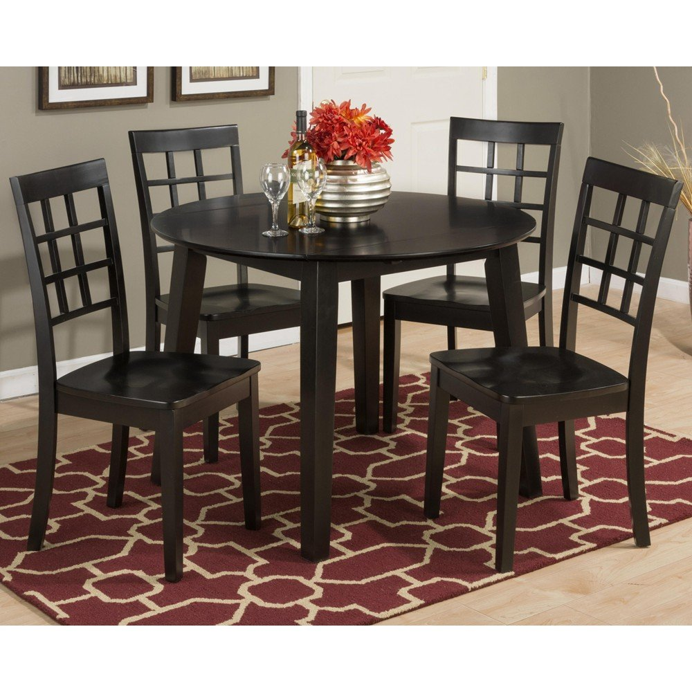 simplicity round drop leaf 5 piece dining set 552 28 4x552 939kd