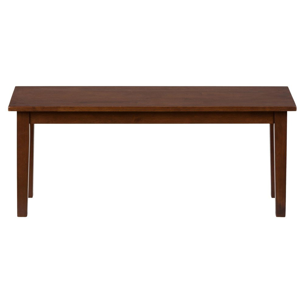 Simplicity wooden dining room table bench 452 14kd for Dining room table and bench
