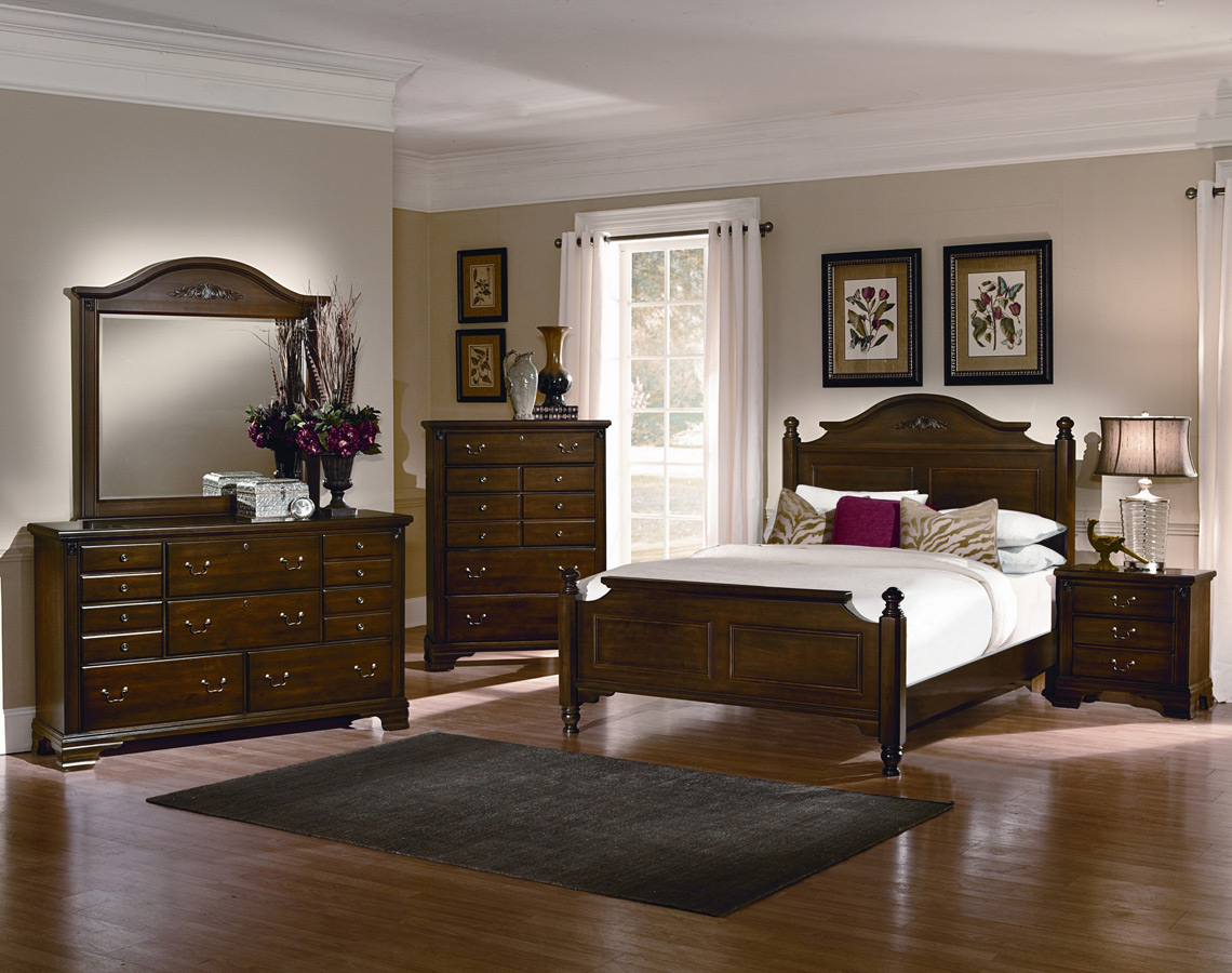 bedroom set cherry finish bb11 558 spencer poster bedroom set cherry 1