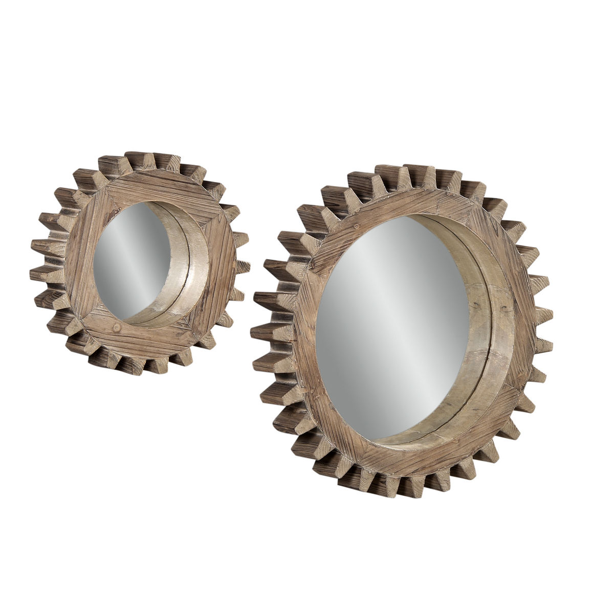 Wall Mirror Set sprockets wall mirror - set of 2 (dark weathered finish