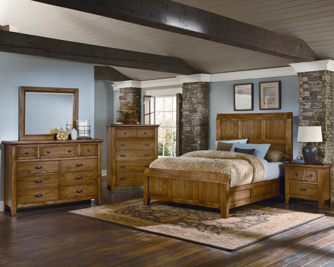 Timber Mill Bedroom Set Oak Finish BB54 559 Decor South