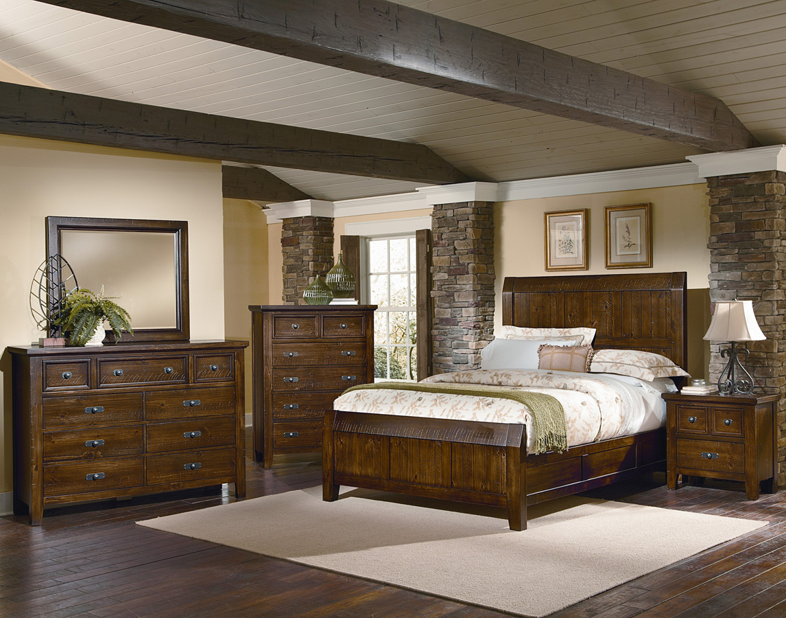 Timber Mill Bedroom Set (Pine Finish)   [BB58 559]