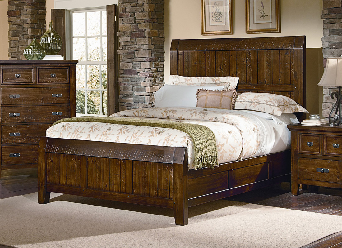 timber mill bedroom set pine finish bb58 559 decor south