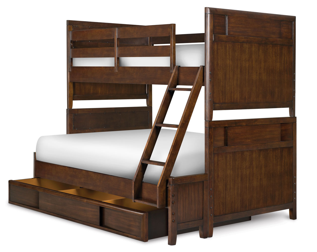 Twilight Bunk Bed Twin Over Full Chestnut Decor South