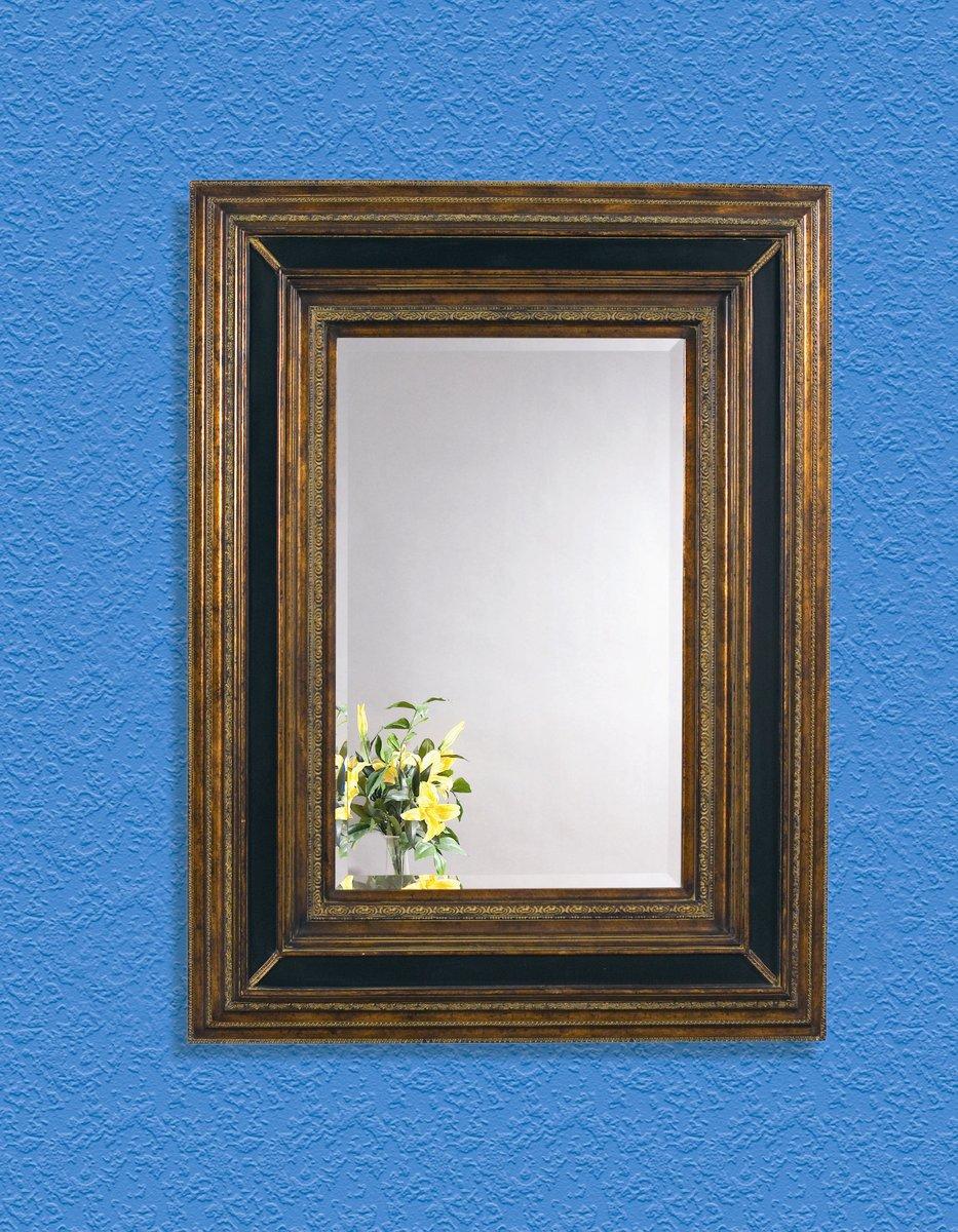 Valejio Wall Mirror Antique Gold Amp Ebony Finish