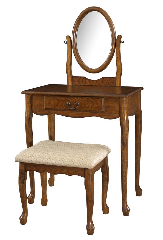 vanity mirror bench woodland oak 604 510 decor