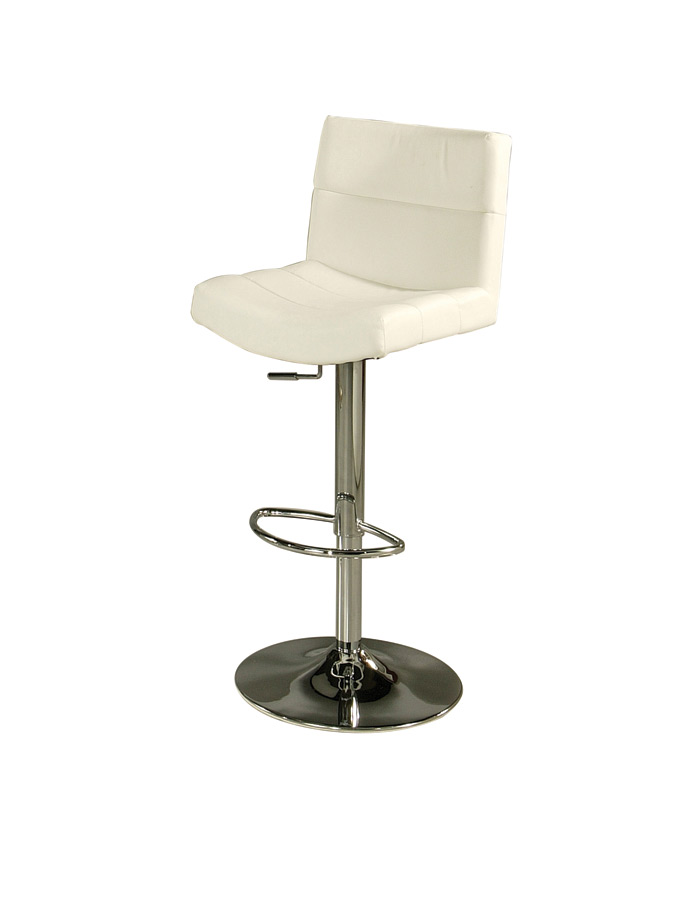 Versailles Hydraulic Bar Stool Chrome Amp Ivory Finish