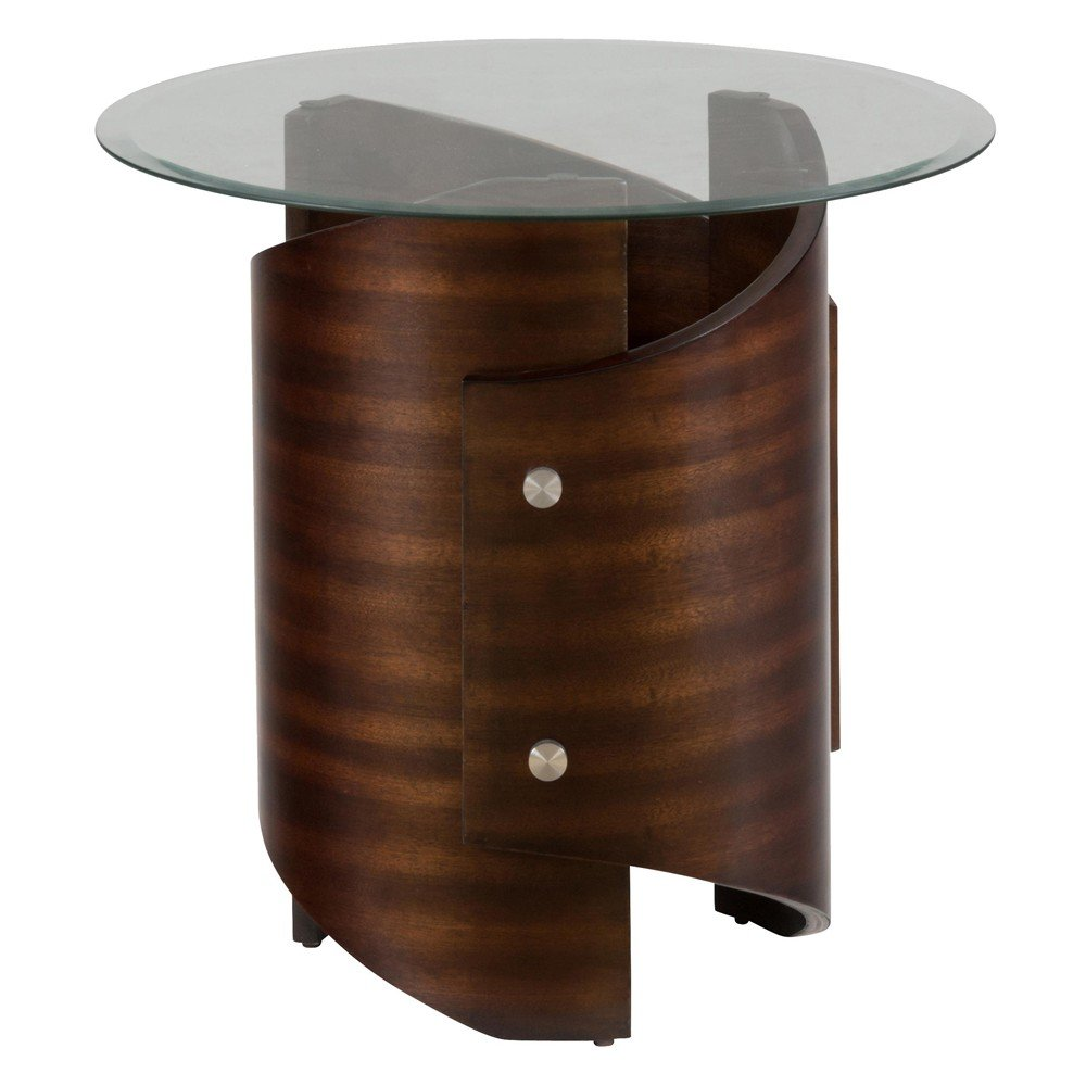 Waterville Walnut Glass Top End Table 956 3B956 3G  : waterville walnut glass top end table 1 from www.decorsouth.com size 1000 x 1000 jpeg 74kB