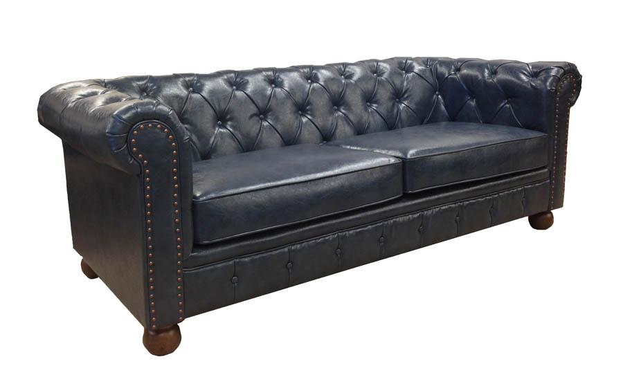 Winston vintage sofa blue lc10603atbl decor south