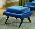 5th Avenue Ottoman (Cerulean Blue)