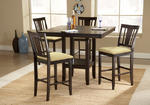 Arcadia Counter Height Dining Set (Espresso Finish)